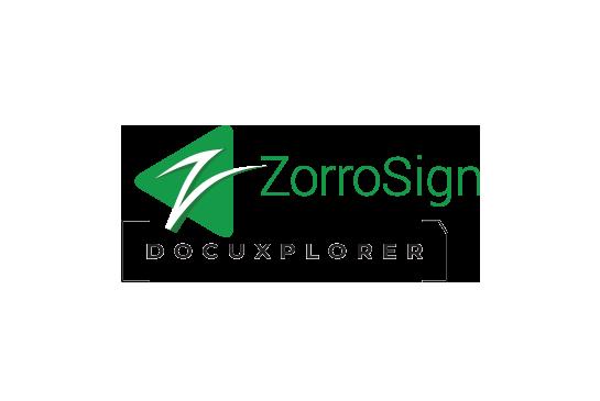 DocuXplorer and ZorroSign Integration Logos