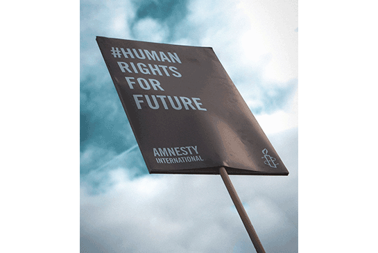 Human rights sign