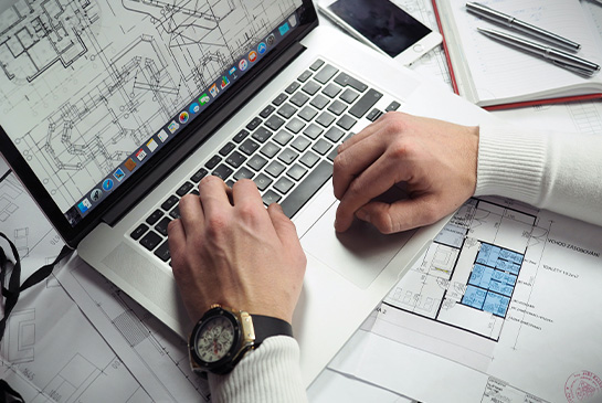 architectual drawing on computer