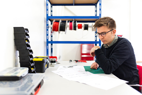 man in workshop