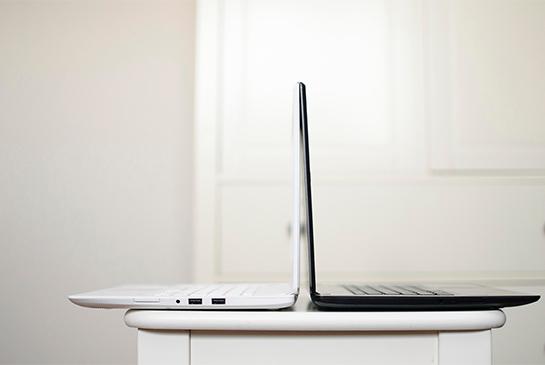 black and white laptops