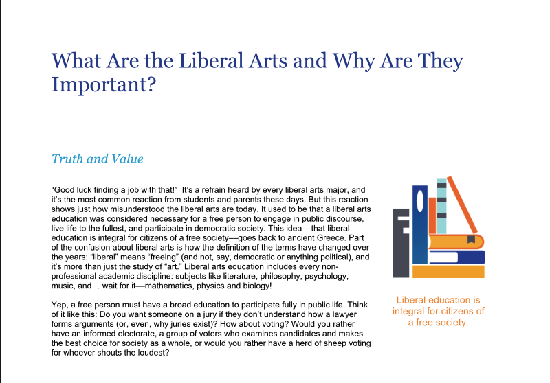 So You Want to Be a Liberal Arts Major