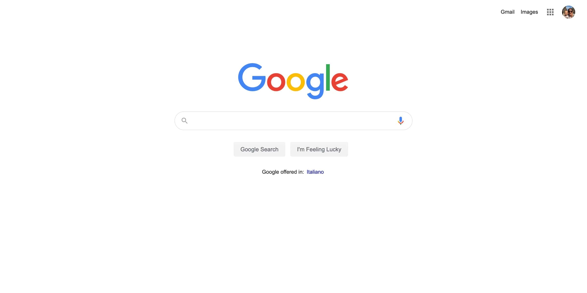 Google utilizing white color psychology in their design