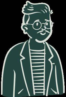 Persona illustré avec des lunettes