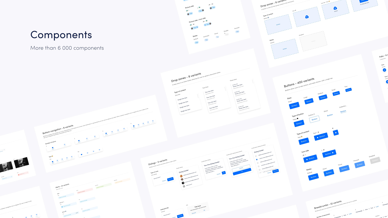 Image qui représente les composants du design system