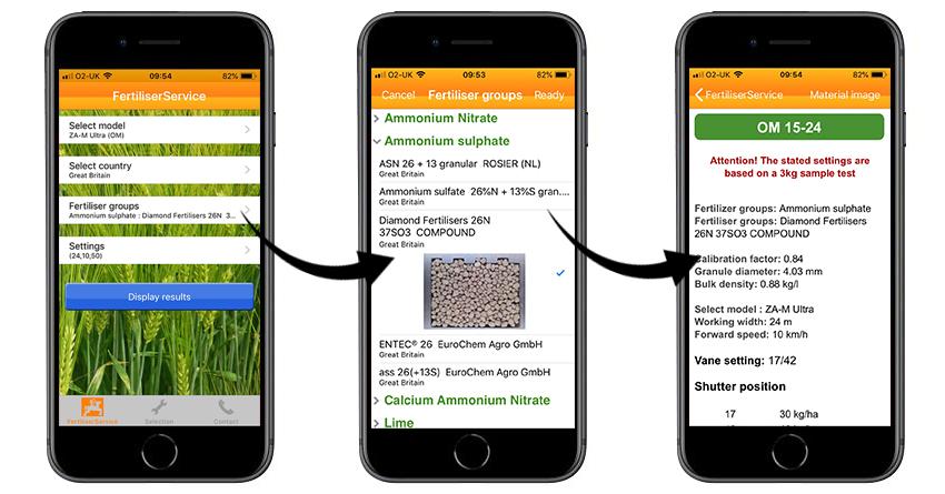 amazone fertiliser spreader settings thomas bell diamond fertilisers