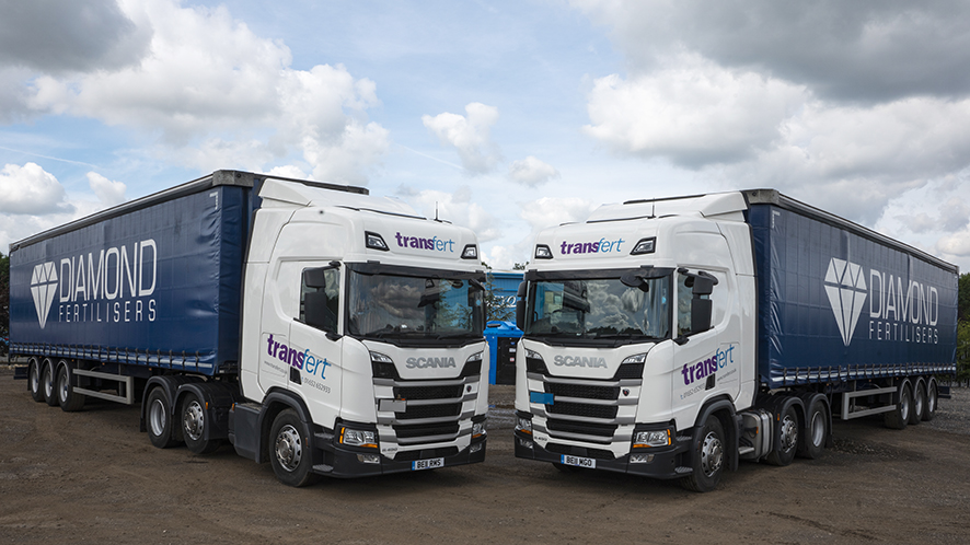 Dedicated fleet of lorries Thomas Bell Fertiliser