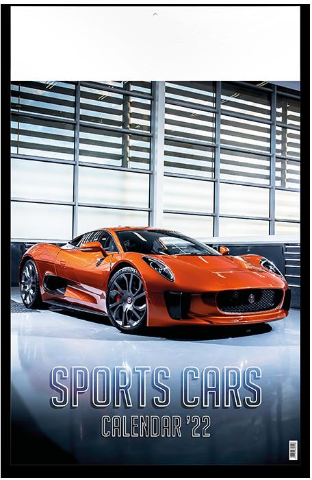 Sports Cars - 12 feuillets avec couverture