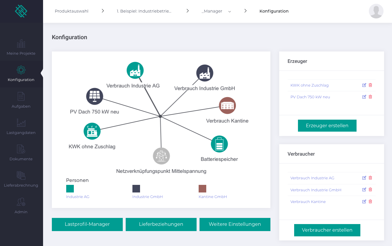 Screenshot opti.node Manager Software