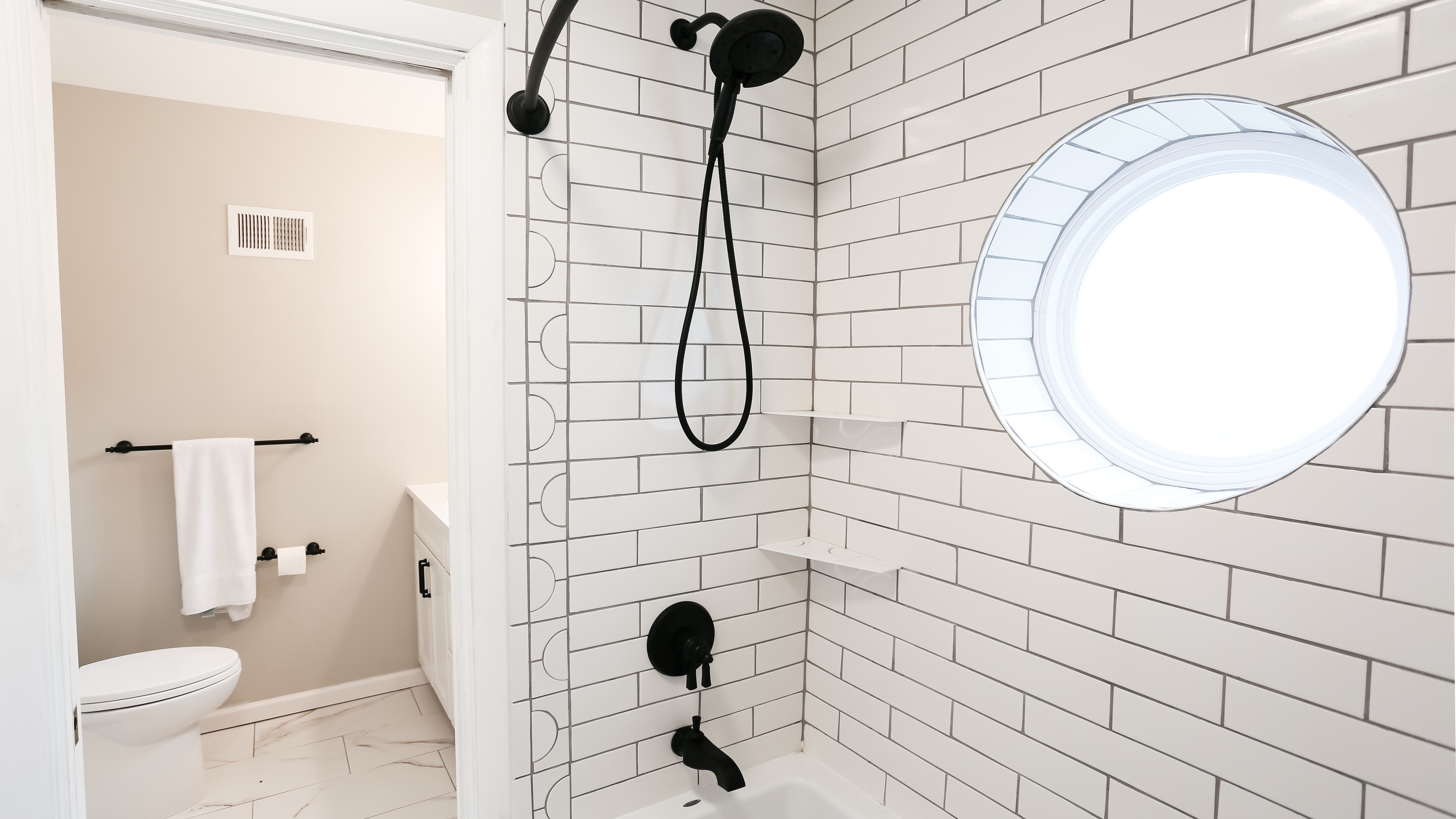 An outdated bathroom gets updated