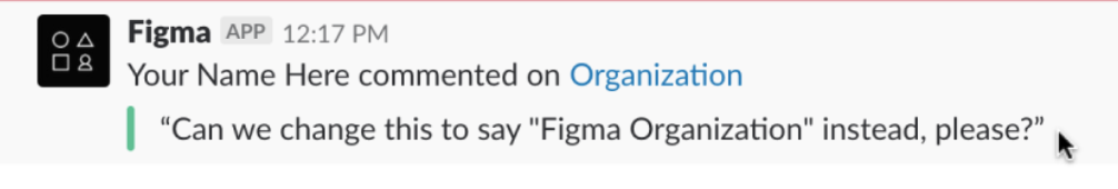 Figma notification