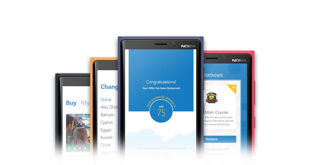 The Entertainer windows phone app design