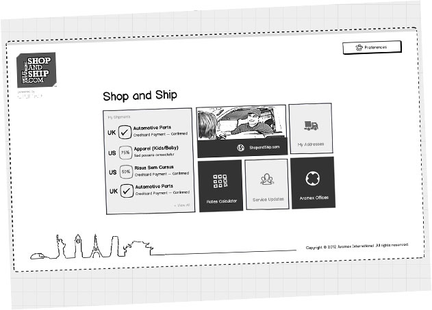 shop and ship interface