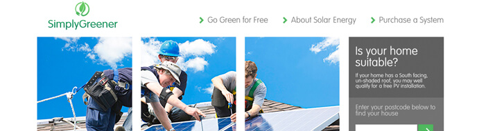 Simply Greener website design