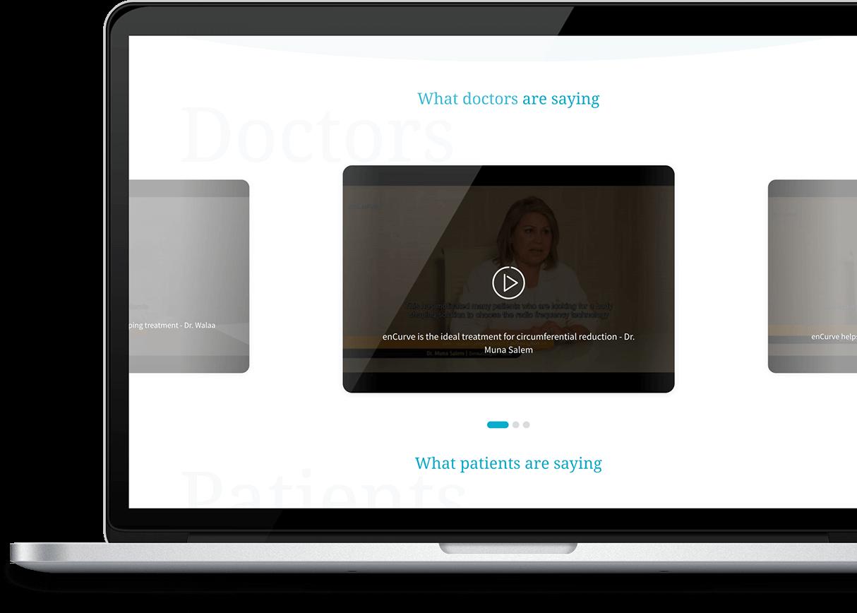 encurve website mockup 2