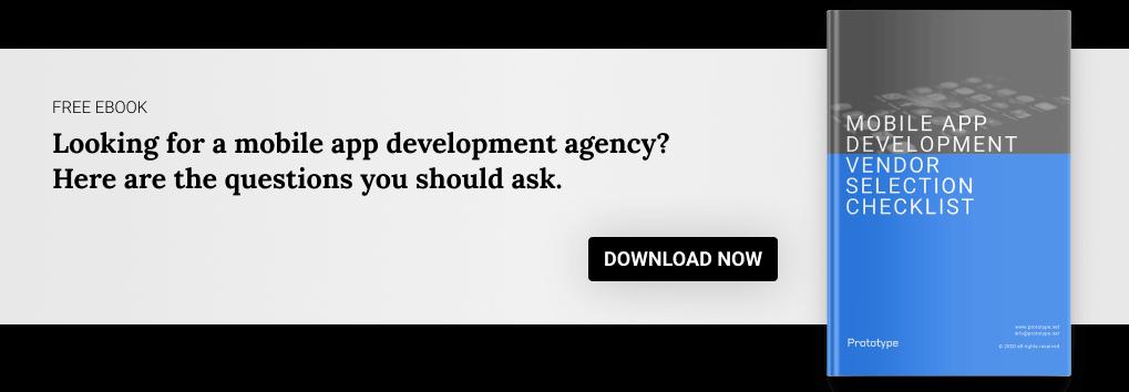 mobile app development vendor selection checklist cta banner