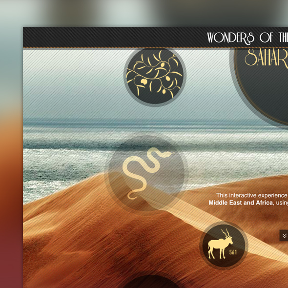 IE9 Wonders of Arabia Microsite
