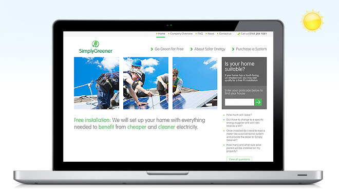 simply greener website case study banner