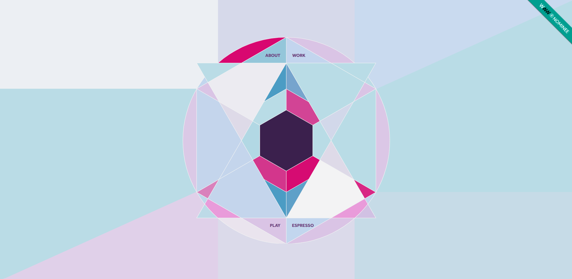 hexagons in in web design