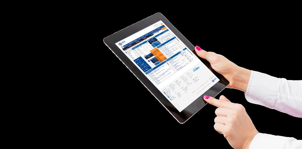 dubai financial market website mockup