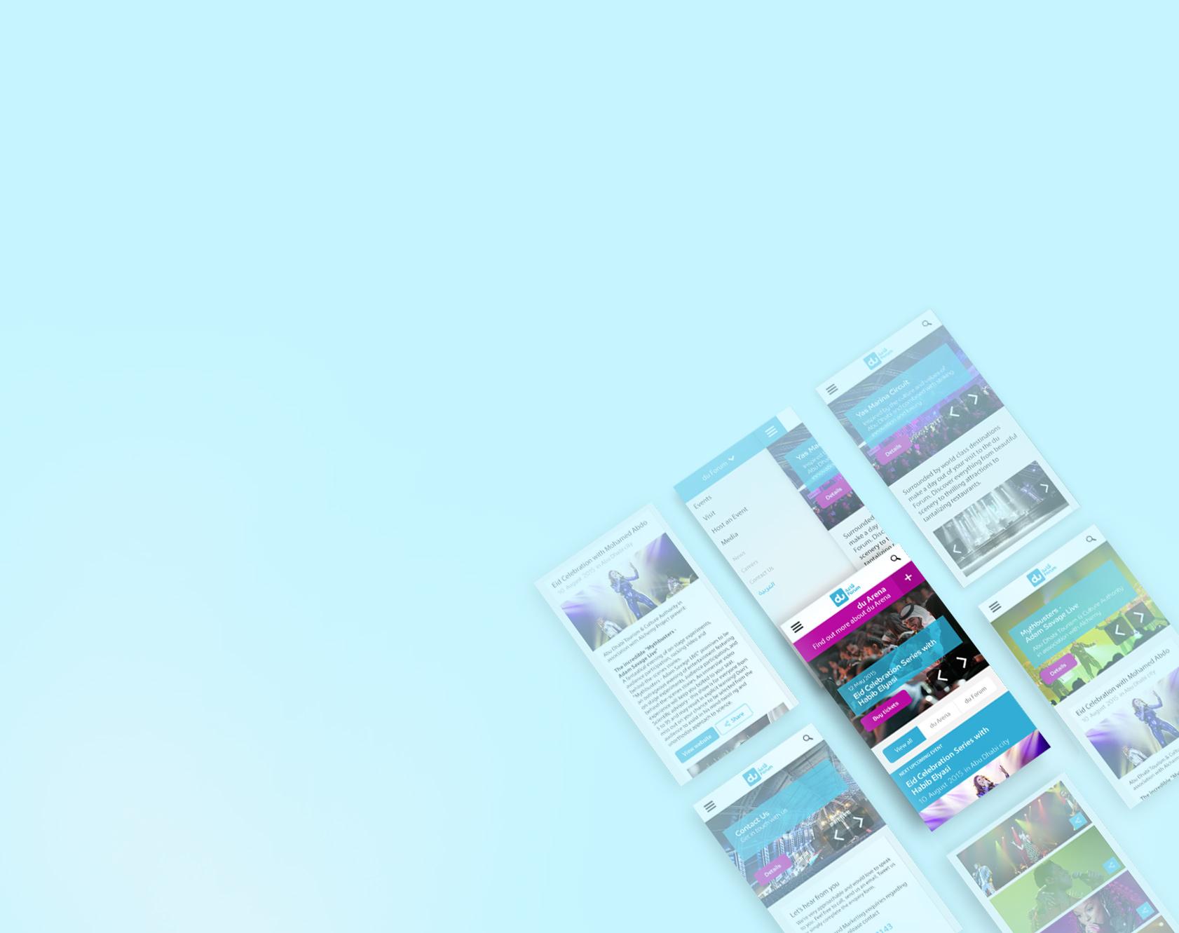du forum & dur arena website design results