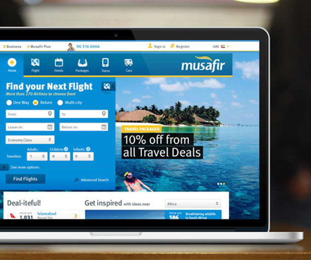 musafir website case study banner