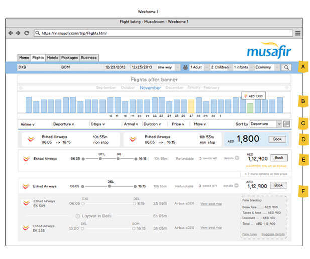 musafir website ui design