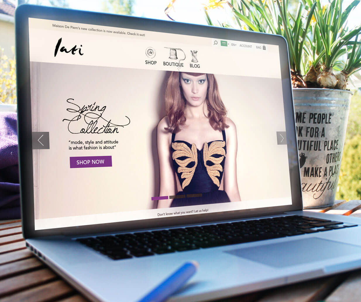 lati fashion website case study banner