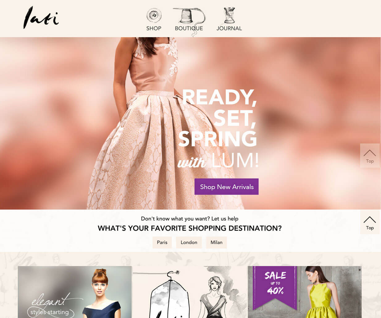 lati fashion website custom features