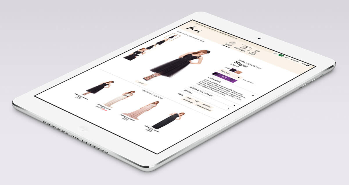 lati fashion website mockup