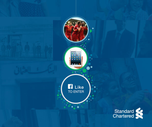 standard chartered facebook campaign case study banner