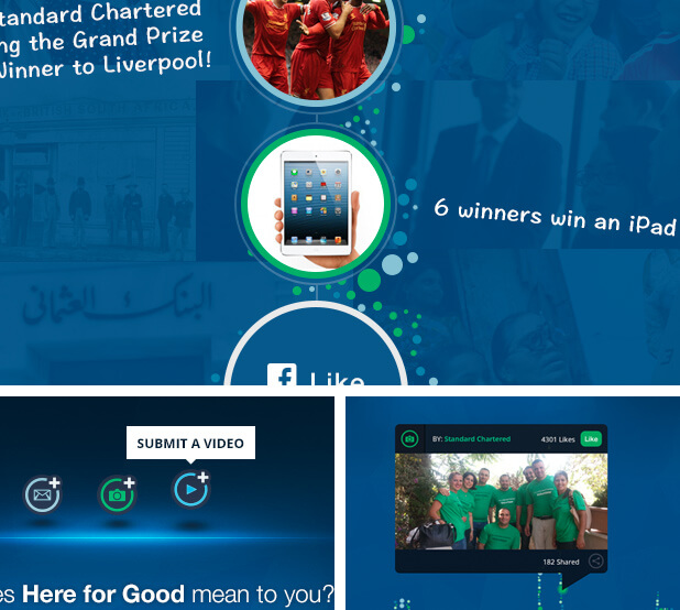 standard chartered facebook campaign screenshots