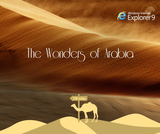 internet explorer wonders of arabia microsite case study banner