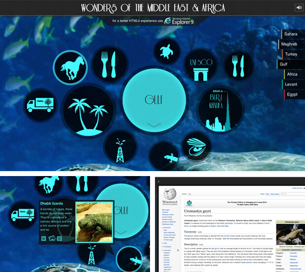 wonders of arabia microsite design