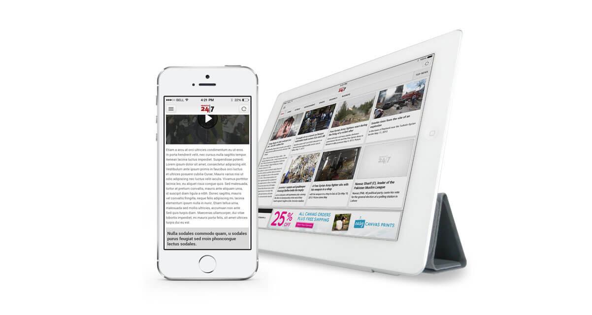 dubai media emirates 24/7 app mockups