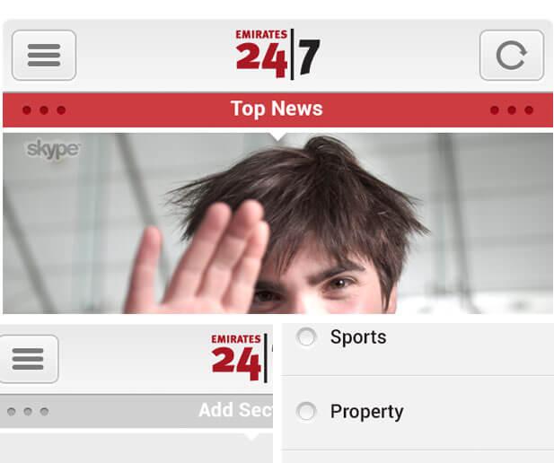 emirates 24/7 app ui design