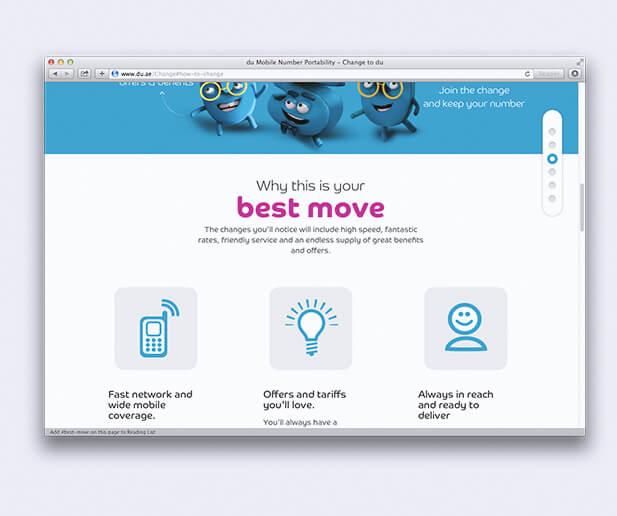 du change campaign microsite screenshot