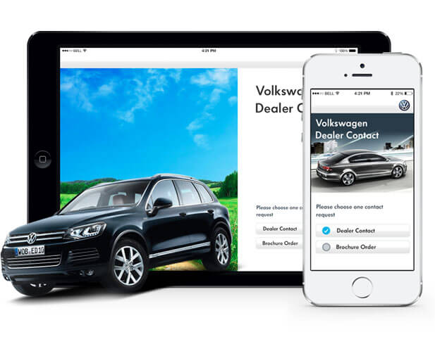 volkswagen dealer app case study banner