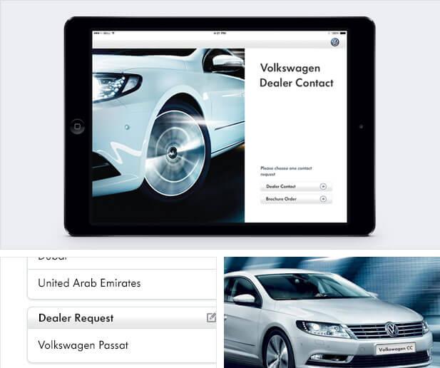 volkswagen dealer app screenshots