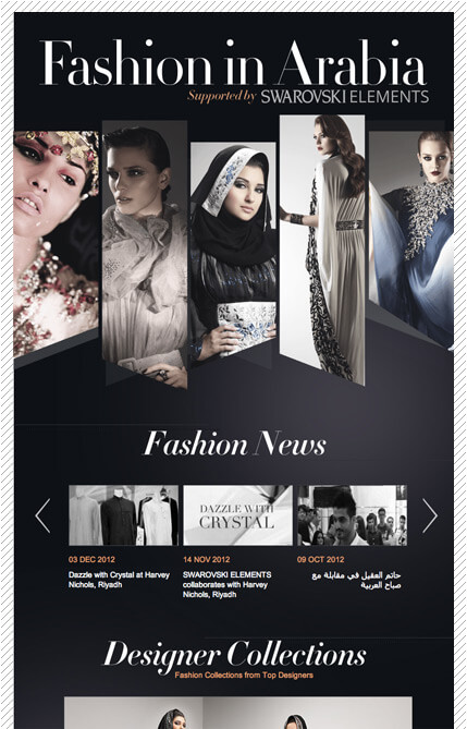 fashion in arabia web design