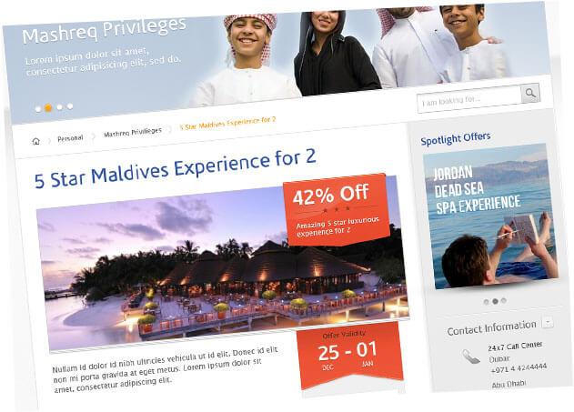 mashreq bank website design ui