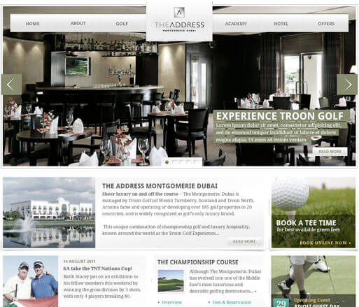 montgomerie website screenshot