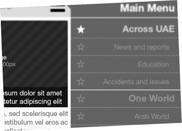 dubai media inc newspaper apps ui design