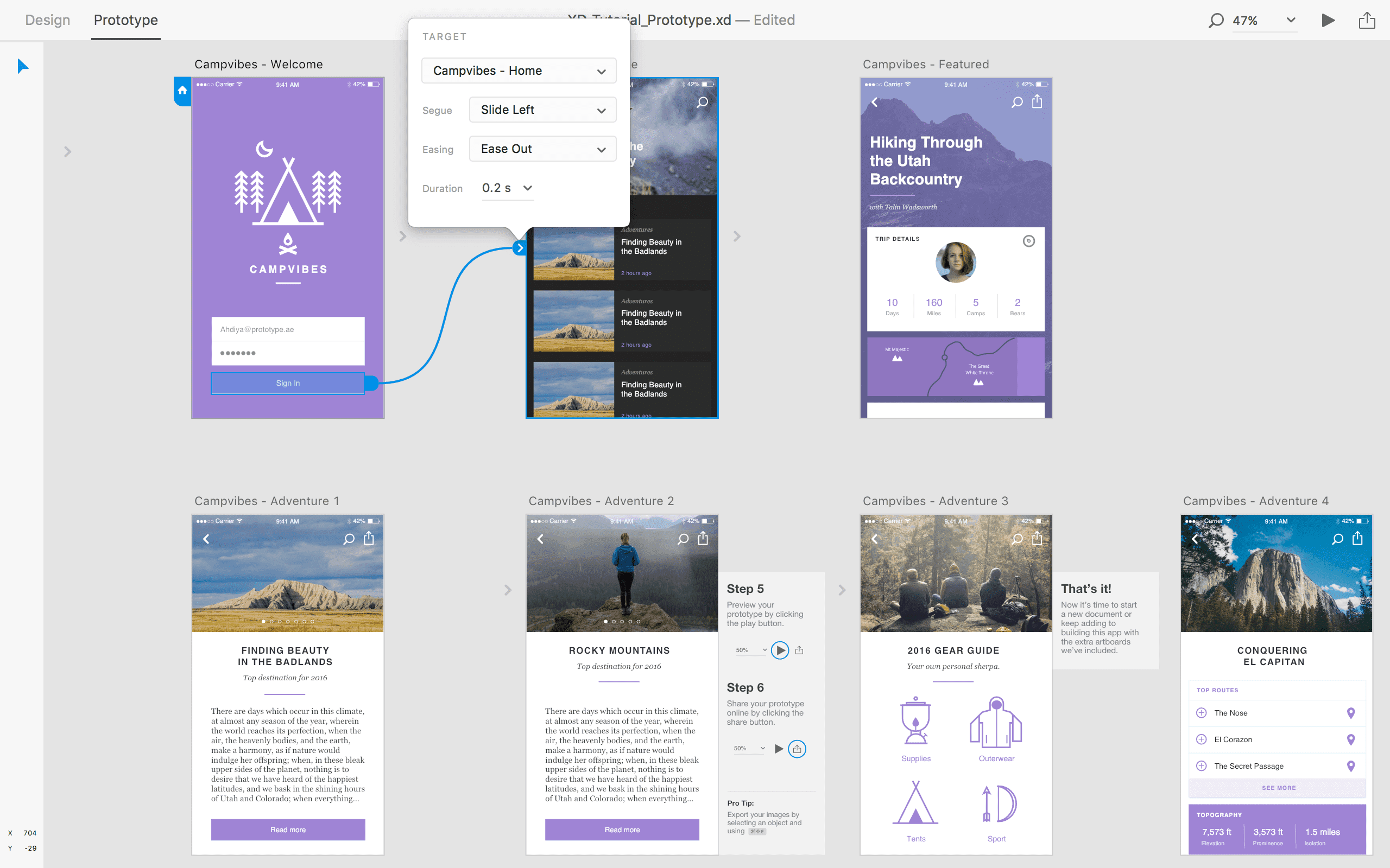 Adobe Xd From A Digital Ui Ux Designer Perspective Prototype