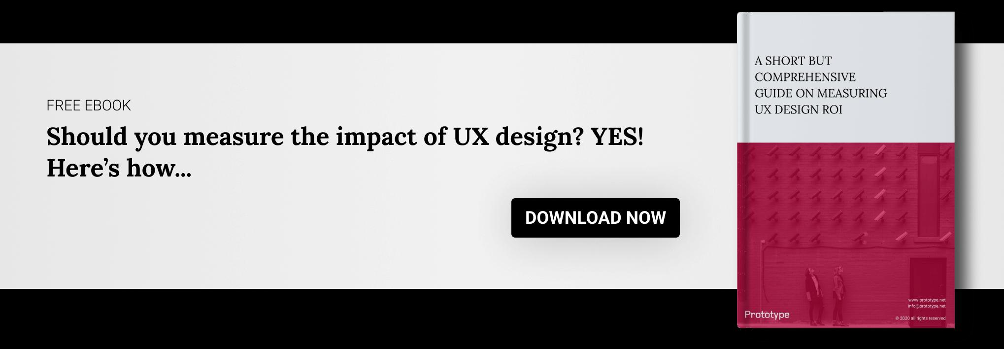 A Short But Comprehensive Guide on Measuring UX Design ROI CTA Banner