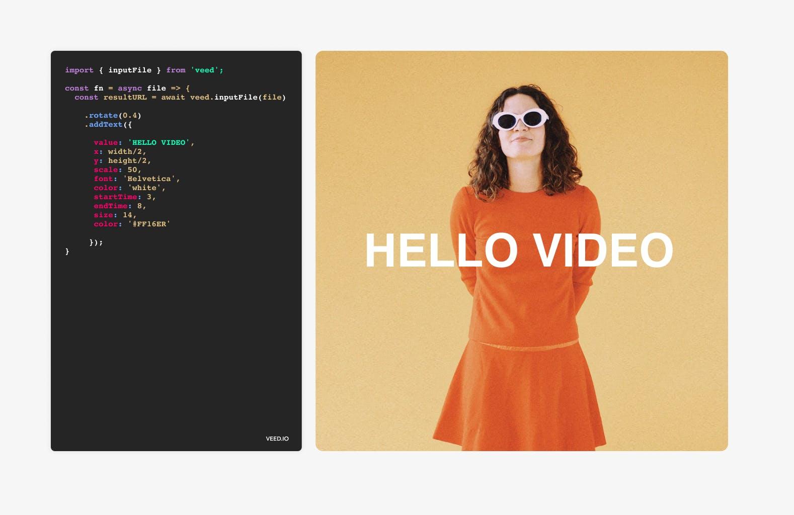 Video Editing API