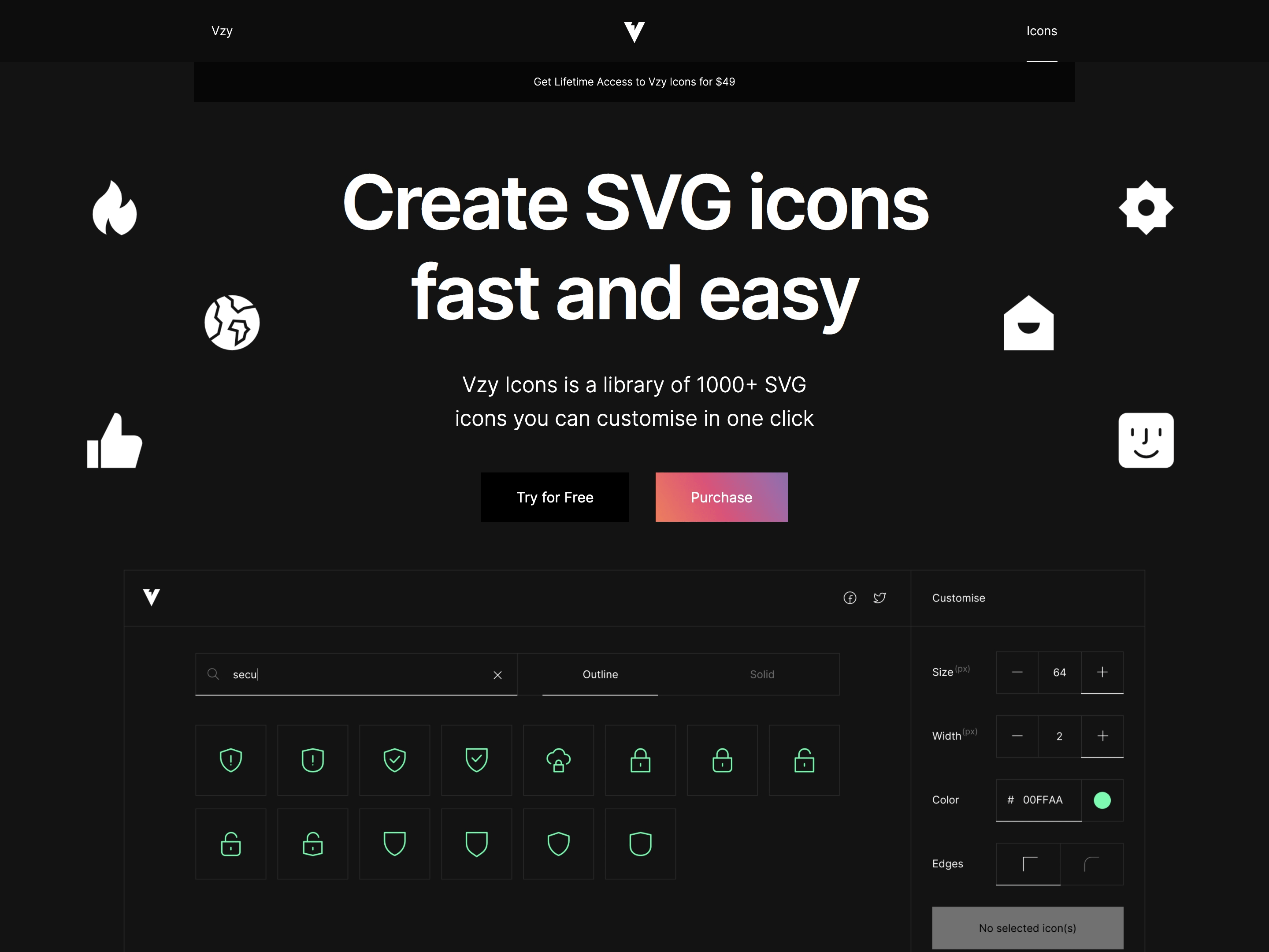 Vzy Icons
