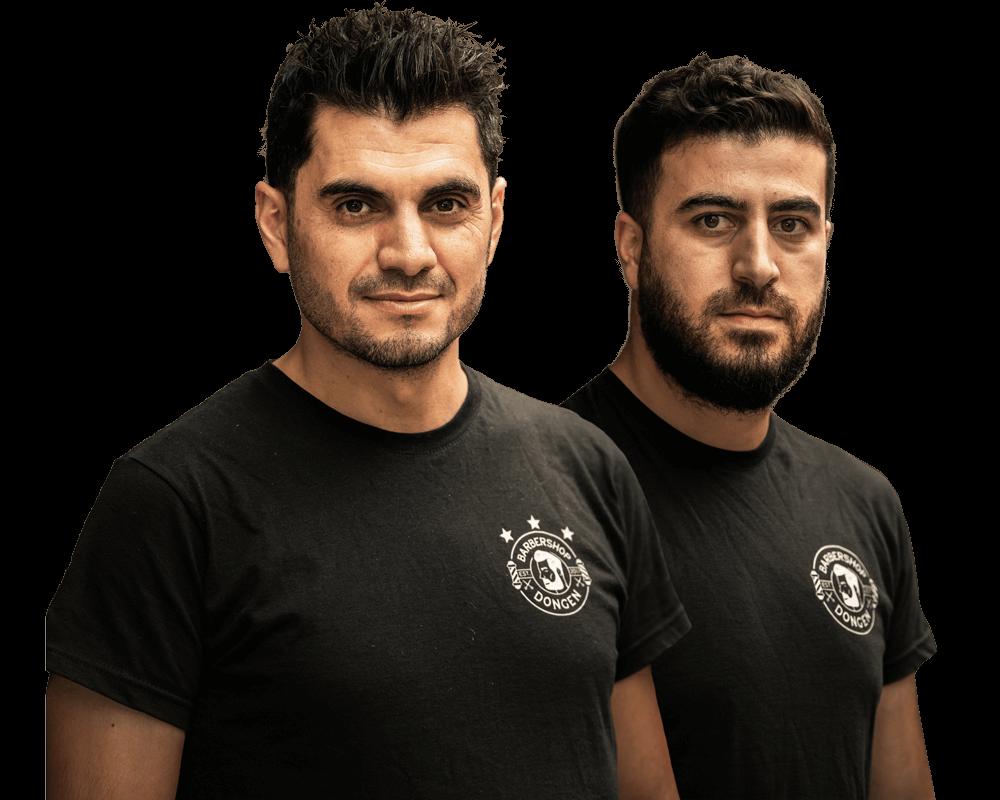Team foto van de barber. Tayfun & Diar