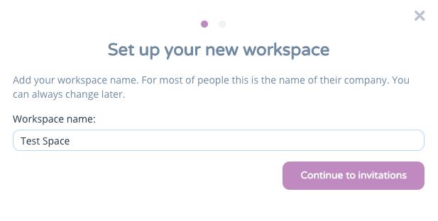 new workspace heyspace