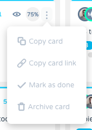 card properties